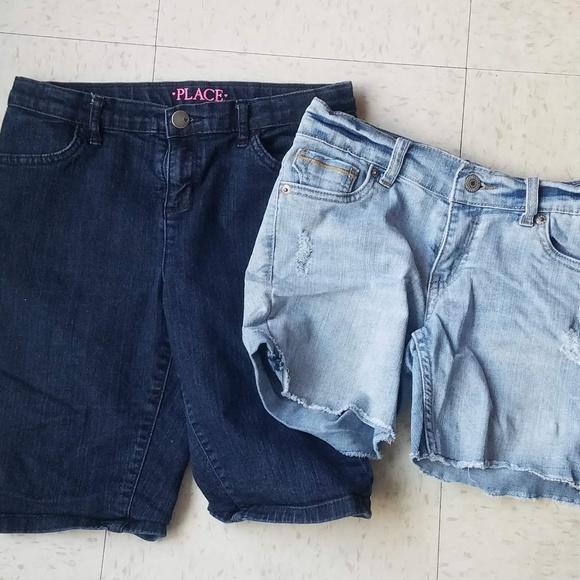 398b49e8 Levi's Bottoms | Mixed Lot Of 2 Girls Denim Shorts Size 12 | Poshmark